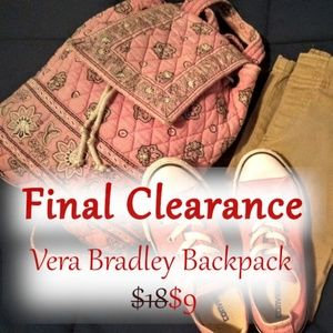 CLEARANCE Vera Bradly retro Backpack.
